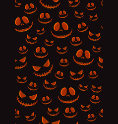 halloween horror pumpkin jack-o lantern seamless vector image