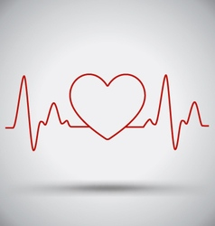 Heartbeat Connect Heart Shape and EKG Medical vector