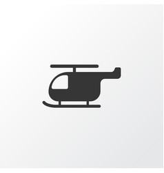 Helicopter icon symbol premium quality isolated vector