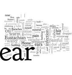 Home remedies for ear aches vector