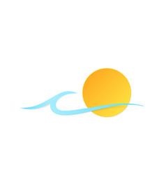 Icon sun wave vector