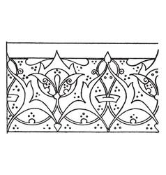 Illumination of a koran link border is a scroll vector