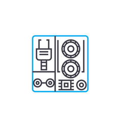 industrial equipment linear icon concept vector image