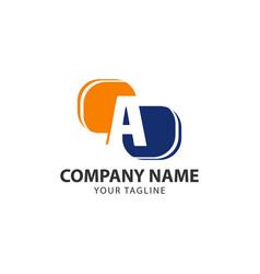 Letter a tech logo design stock vector