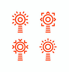 lighthouse isolated set icons outline vector image