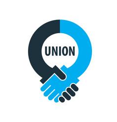 Logo handshake vector