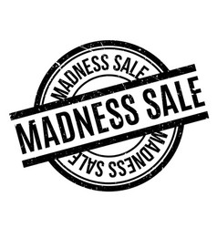 Madness sale rubber stamp vector