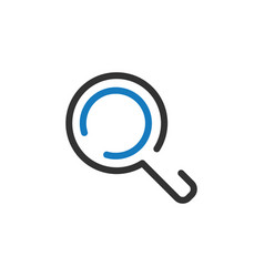 magnifying glass graphic icon design template vector image