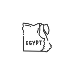 Map egypt flat outline icon egyption concept vector