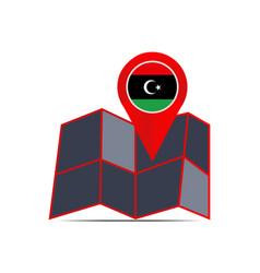 Map icon libya is isolated vector