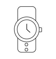 Masculine hand watch icon vector