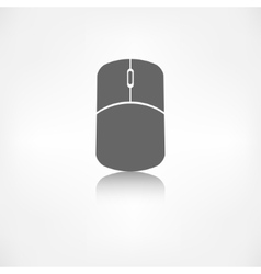 Mouse web icon vector