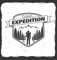 outdoor expedition badge vector image