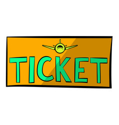 Plane tickets icon icon cartoon vector