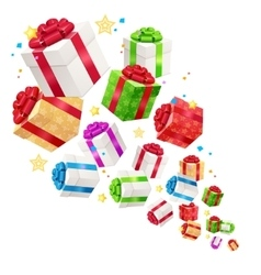 Present Boxes Background for Cards vector image
