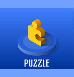 Puzzle icon symbol vector