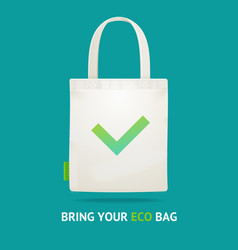 realistic 3d detailed use eco bag no plastic vector image