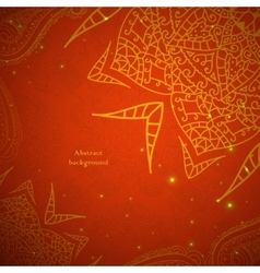 Red Indian Vintage Ornament vector image