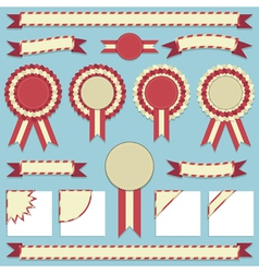 rosettes and ribbons vector image