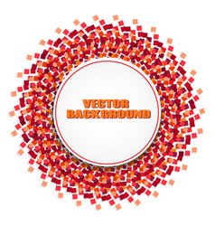 round frame on a background of red sparkles vector image