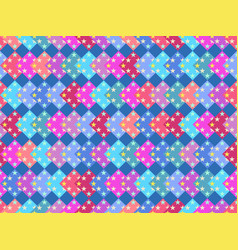seamless pattern with multicolored squares and vector image