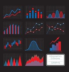 Set of charts vector image