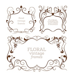 Set of elegance vintage frames vector