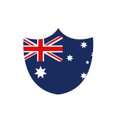 shield shape flag emblem nation australia icon on vector image