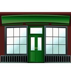 Shop window vector