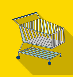 Shopping cart icon in flate style isolated on vector