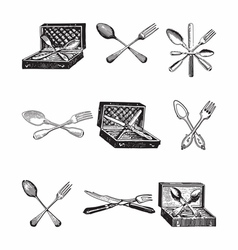 Silverware Sets vector image