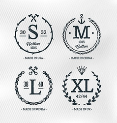 Size Emblems Templates vector image