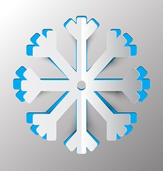 Snowflake - Winter Symbol Paper Cut vector image