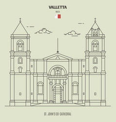 St johns co-cathedral in valletta malta vector