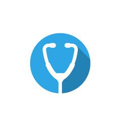 stethoscope icon graphic design template vector image