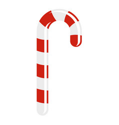 striped candy cane icon isolated vector image