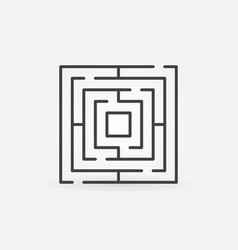 thin line labyrinth icon vector image
