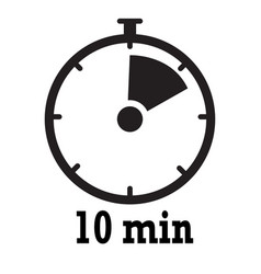 timer icon 10 minutes stopwatch symbol flat icon vector image