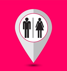 toilet pointer sign vector image