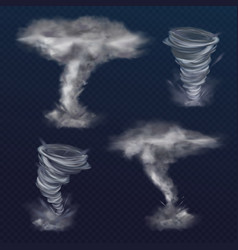 tornado twister realistic wind vector image