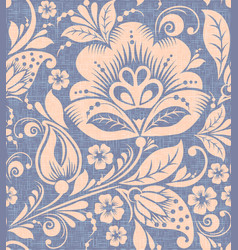 traditional russian flower seamless pattern vector image vector image