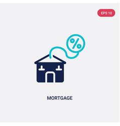two color mortgage icon from digital economy vector image