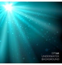 Under water blue deep ocean background with vector