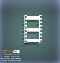 Video sign icon frame symbol On the blue-green vector