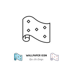 wallpaper roll icon interior design and home vector image