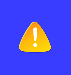 warning icon for attention dangerous weather vector image