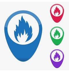 Web buttons pointer - fire vector