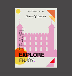 welcome to the tower of london uk explore travel vector image