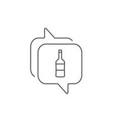 wine bottle line icon merlot or cabernet vector image
