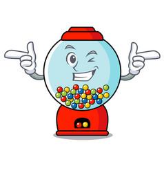 Wink gumball machine character cartoon vector